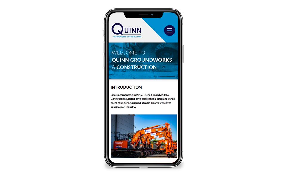 Quinn Groundworks website